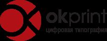 Логотип полиграфии и типографии в Киеве OkPrint