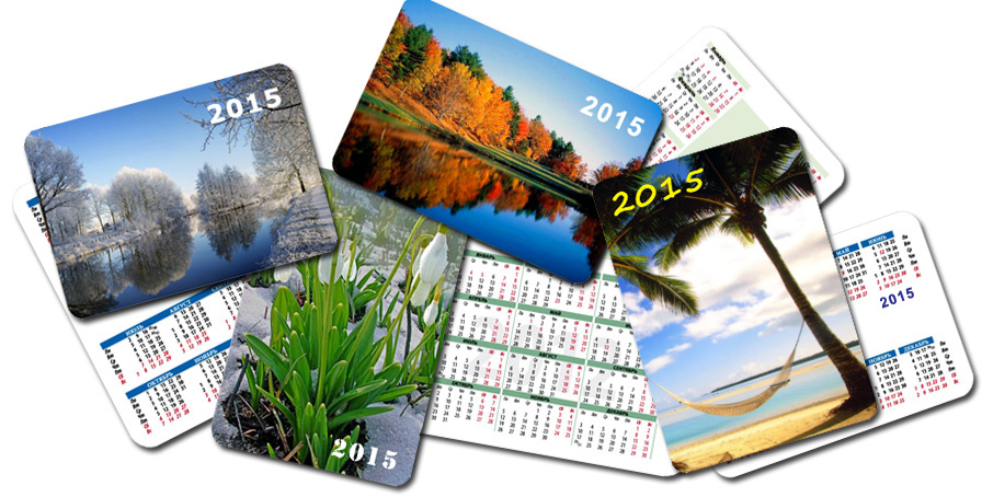 Разный дизайн карманных календарей